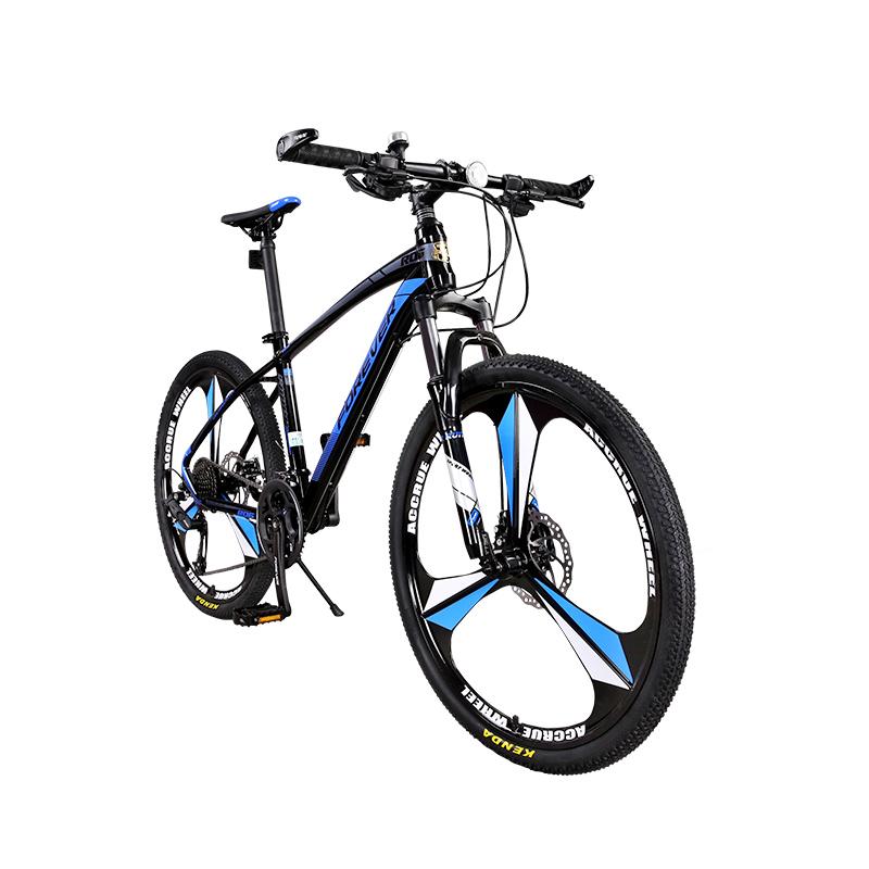 Bicicleta MTB-HT Forever F26R1B roata 26 cadru aluminiu 27 viteze culoare negrualbastru imagine