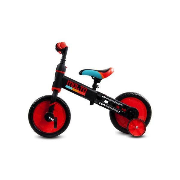 Bicicleta cu sau fara pedale si roti ajutatoare Sun Baby Molto 014 Red