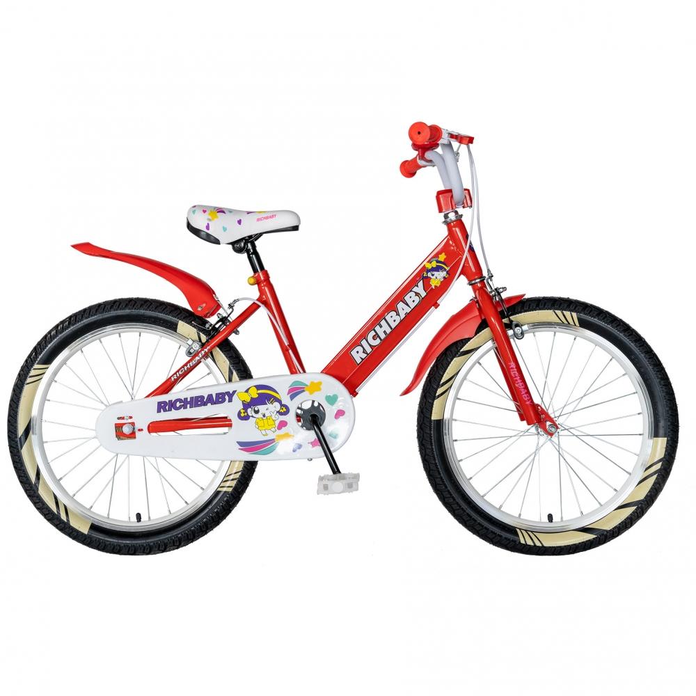 Bicicleta fete 20 inch Rich Baby R2008A frana C-Brake otel rosualb
