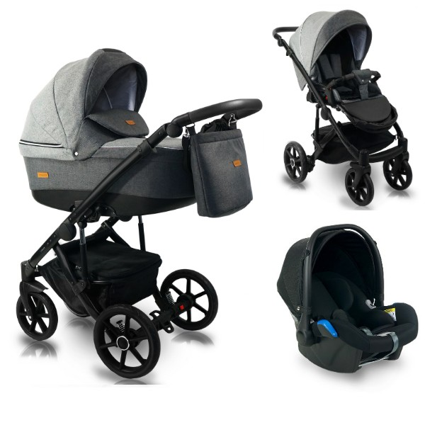 BEXA Carucior copii 3 in 1 Bexa Ultra 2.0 Dark Grey