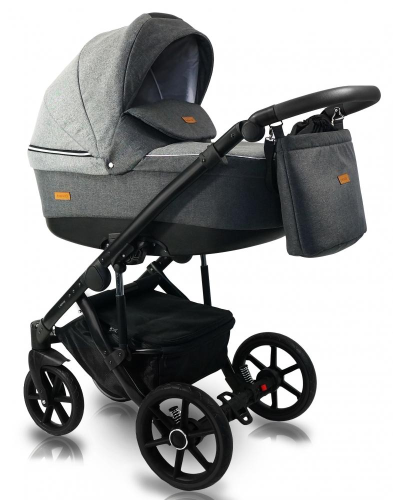 Carucior copii 3 in 1 Bexa Ultra 2.0 Dark Grey