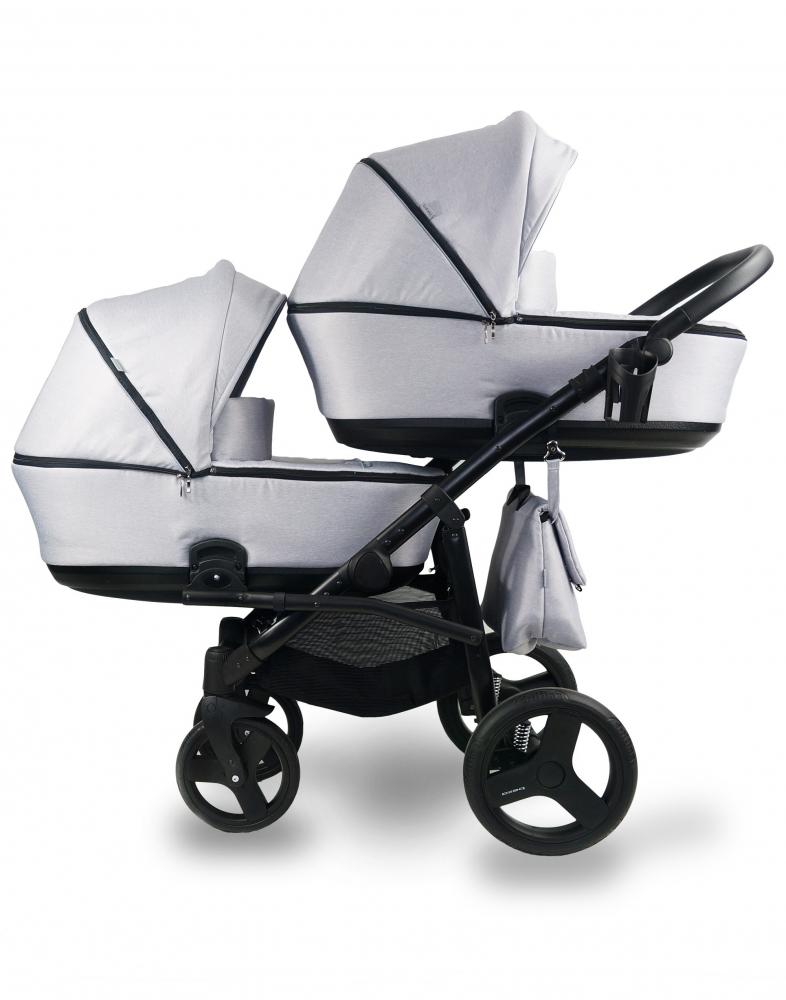BEXA Carucior copii gemeni Tandem 2 in 1 Bexa Lux Grey