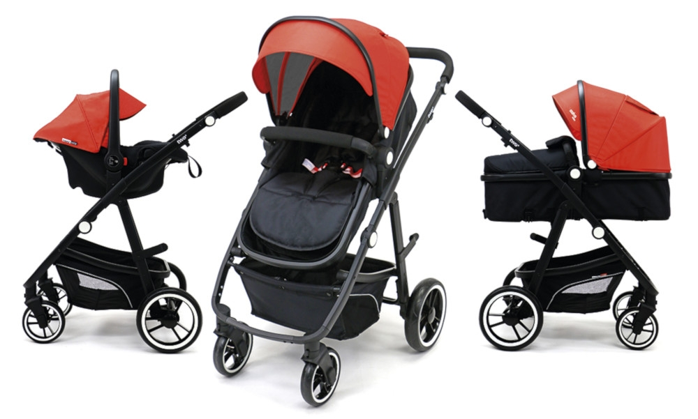 Carucior 3 in 1 Asalvo Convertible Two+ Red - 2