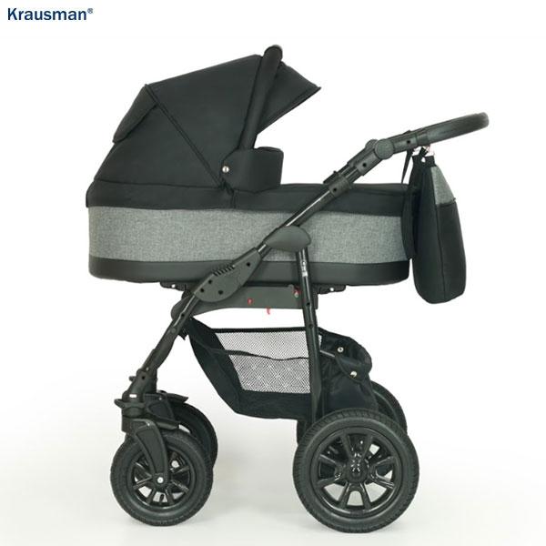 KRAUSMAN Carucior 3 in 1 Jet Black