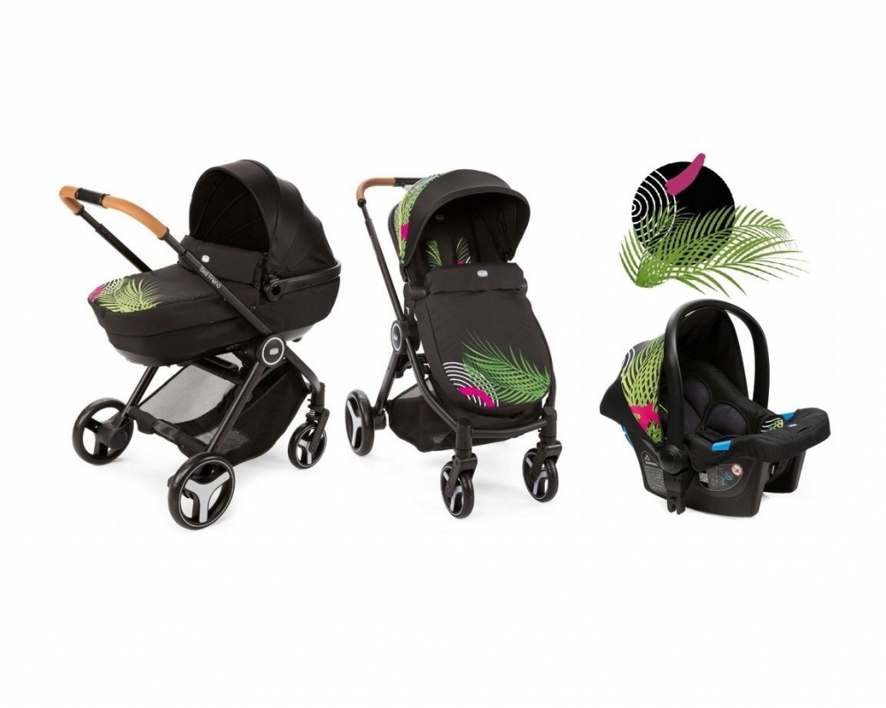 CHICCO Carucior copii 3 in 1 Chicco Best Friend Comfort Optical Jungle 0luni+