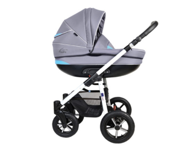 Carucior copii 3 in 1 Baby Boat Bb224 Gray-Blue - 1