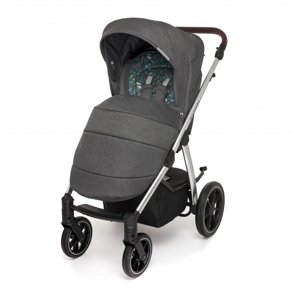 Carucior multifunctional 2 in 1 Baby Design Bueno 117 Graphite Meadow 2020