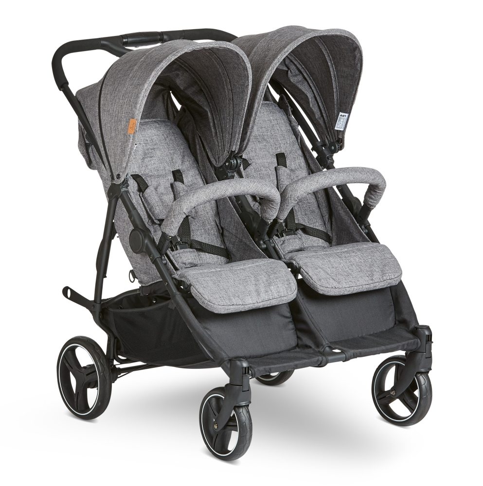 ABC DESIGN Carucior pentru gemeni Twin woven-grey Abc Design 2021