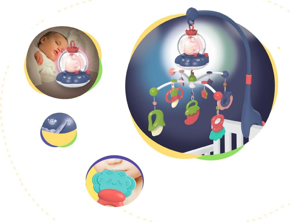 Carusel muzical multifunctional KikkaBoo All in one Mint imagine