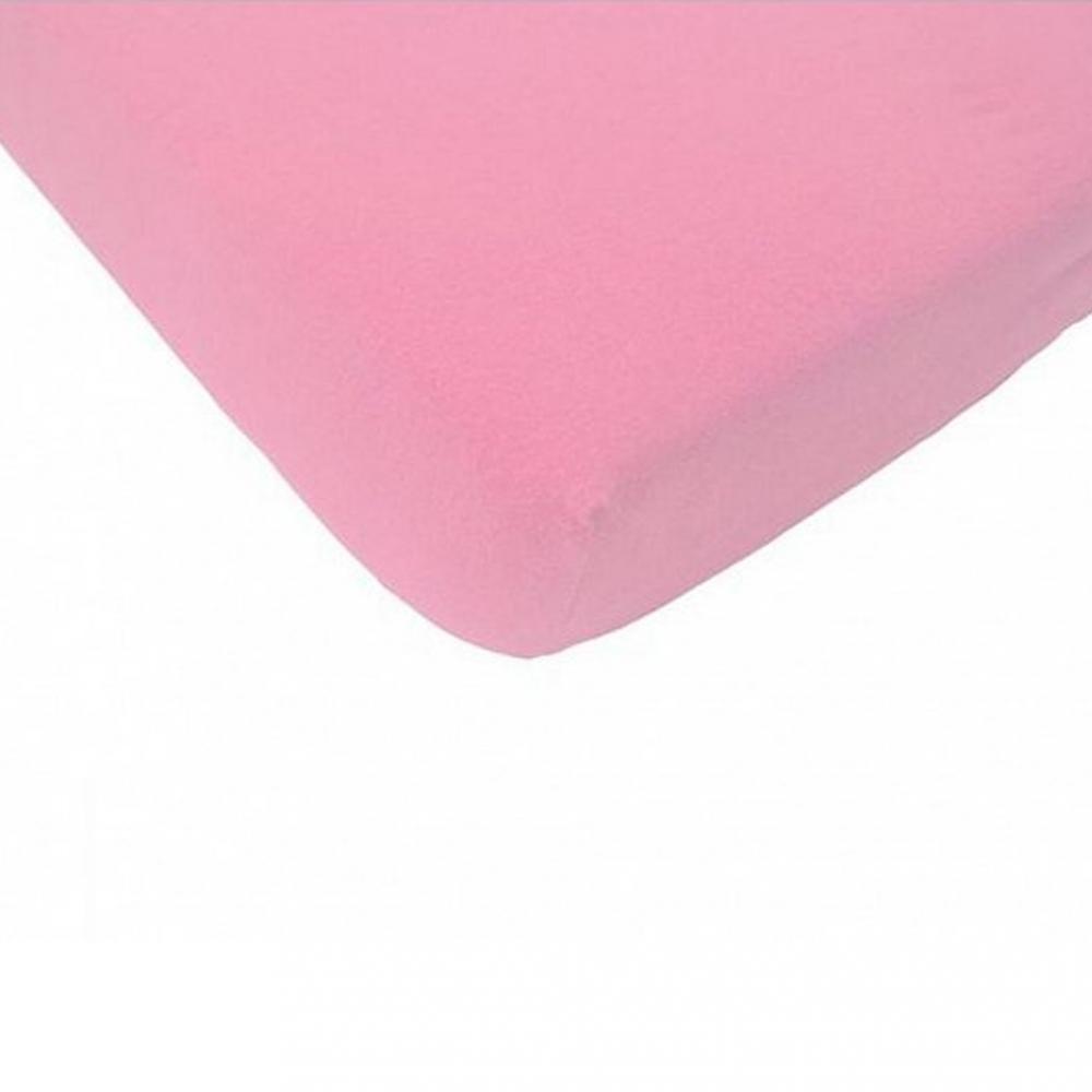 Cearsaf roz cu elastic pentru saltea 90x200 cm