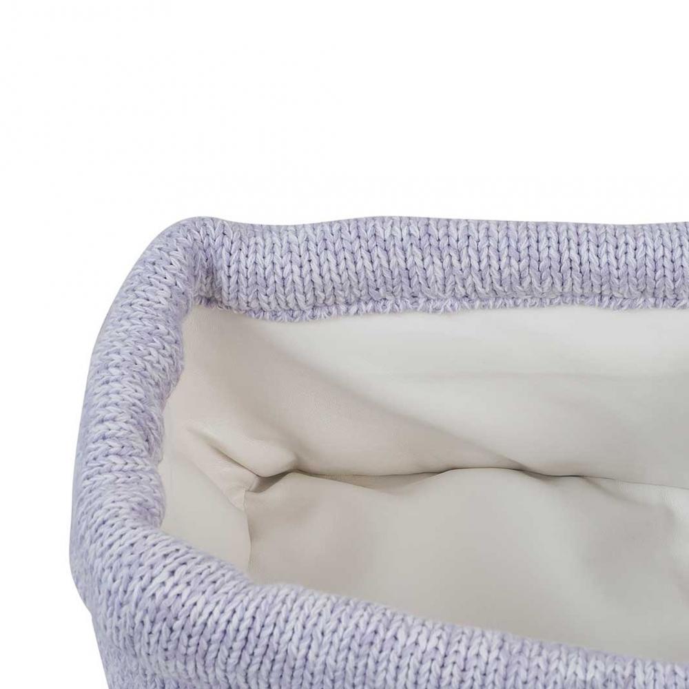 Cos depozitare mic Melange 14x18 cm tricot lila