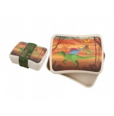 Cutie pentru pranz din bambus dinozaur imagine