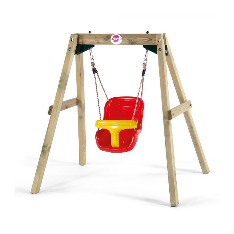 Leagan bebelusi din lemn Baby Swing Plum imagine