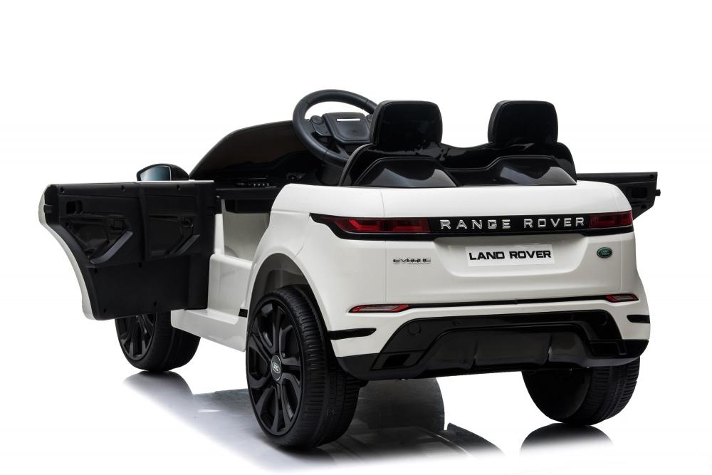 Masinuta electrica 12V cu doua locuri si roti EVA Range Rover White