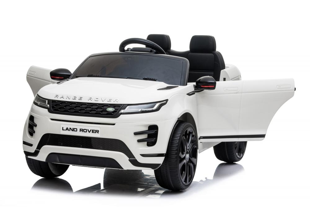 Masinuta electrica 12V cu doua locuri si roti EVA Range Rover White - 1