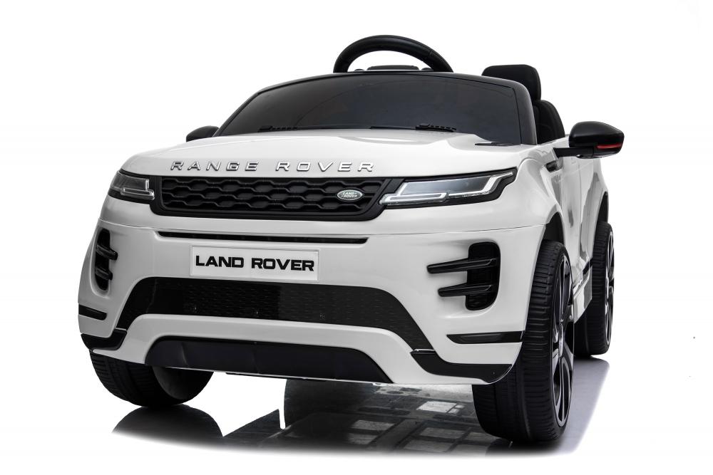 Masinuta electrica 12V cu doua locuri si roti EVA Range Rover White - 4