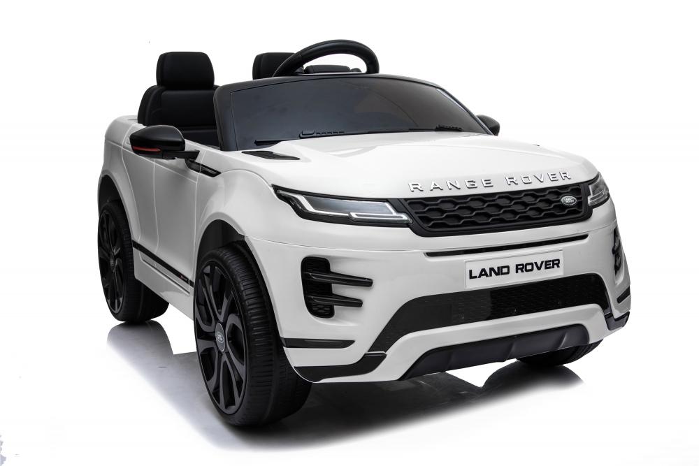 Masinuta electrica 12V cu doua locuri si roti EVA Range Rover White - 5