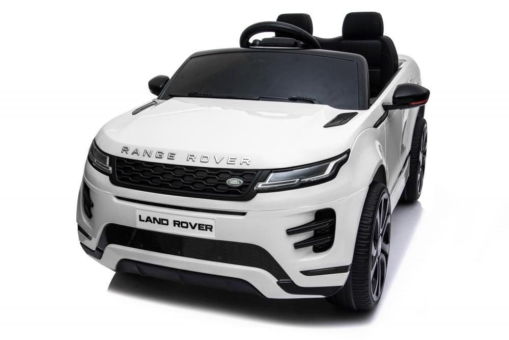 Masinuta electrica 12V cu doua locuri si roti EVA Range Rover White - 6