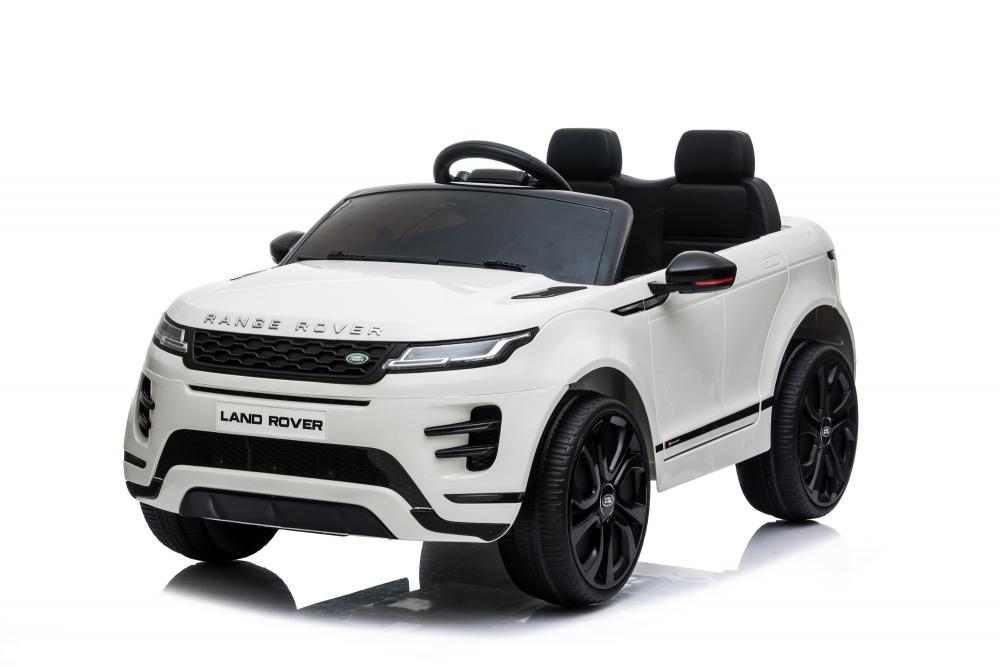 Masinuta electrica 12V cu doua locuri si roti EVA Range Rover White - 7