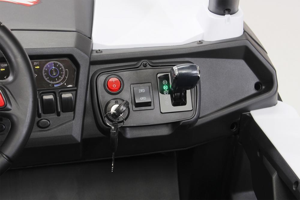 Masinuta electrica cu telecomanda Xtreme Jumper 4x4 UTV-MX Black - 9