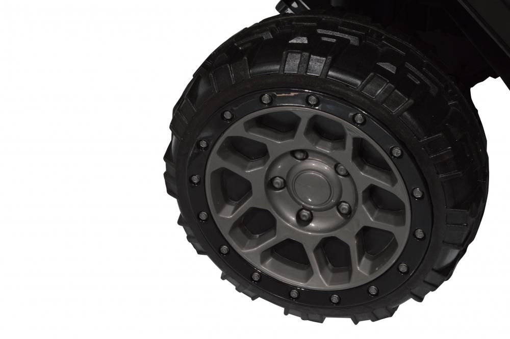 Masinuta electrica de teren cu suspensii Megalodone Black - 1