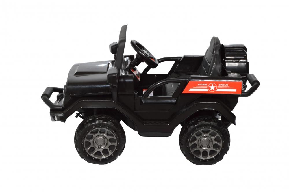 Masinuta electrica de teren cu suspensii Megalodone Black - 2