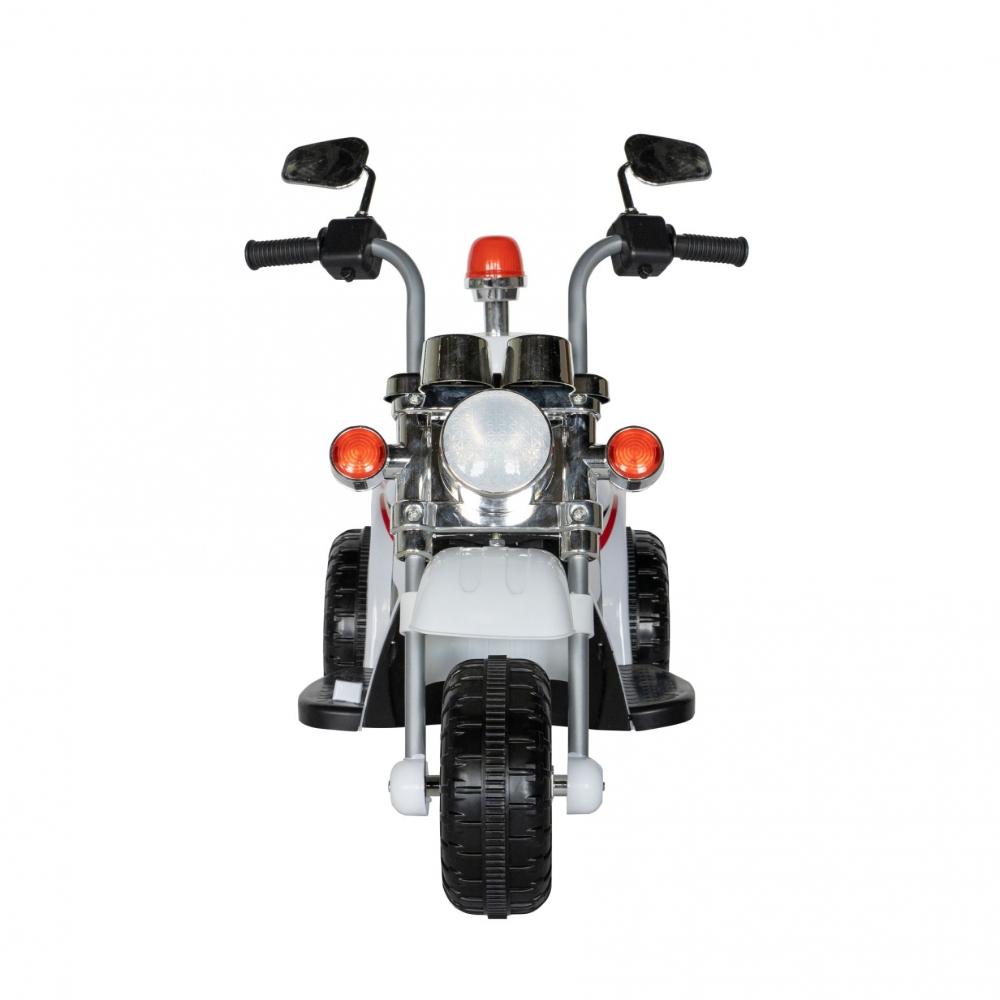Motocicleta electrica copii cu acumulator, muzica si lumini alb