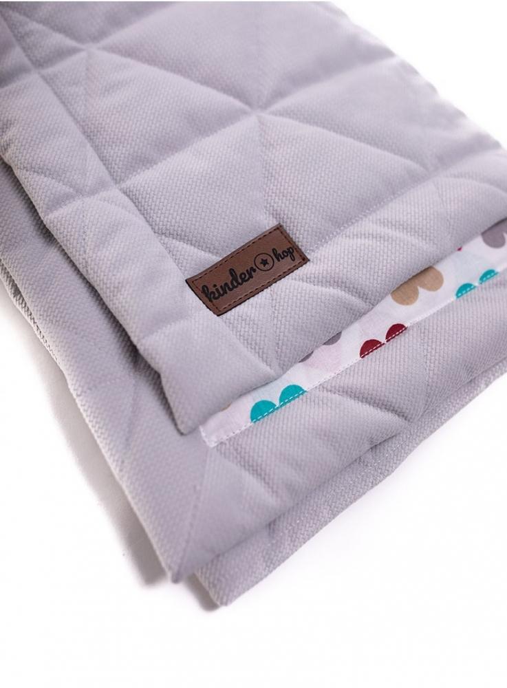 Paturica Soft Touch cu doua fete catifea si bumbac 100x70 cm Light Grey