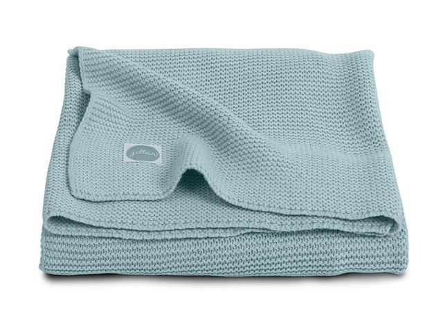 Paturica bebe Jollein Basic Knit 75x100 cm tricot verde