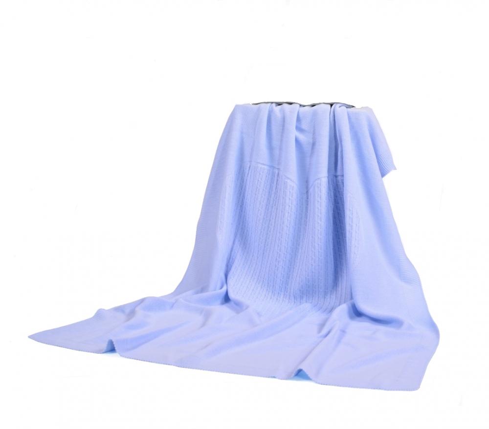 Paturica Moni Baby blanket Light Blue tricotata pentru copii 340