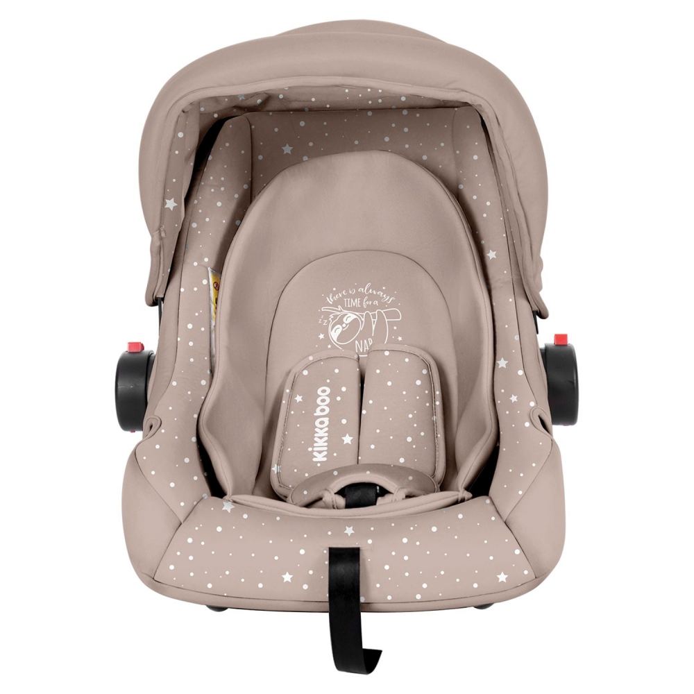 Scaun auto 0-13 kg KikkaBoo Little Traveler Beige Sloth 2020