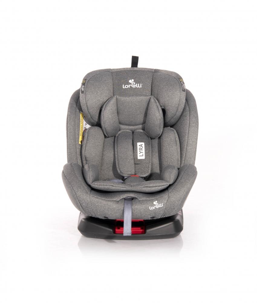 Scaun auto cu isofix Lyra rotativ 360 grade 0-36 kg Grey imagine