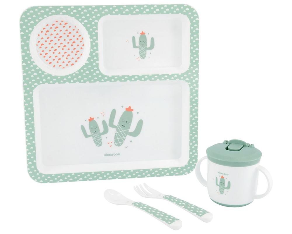 Set de masa complet KikkaBoo Cactus Green
