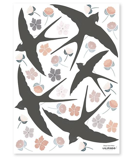 Sticker A3 FlowerSwallow imagine