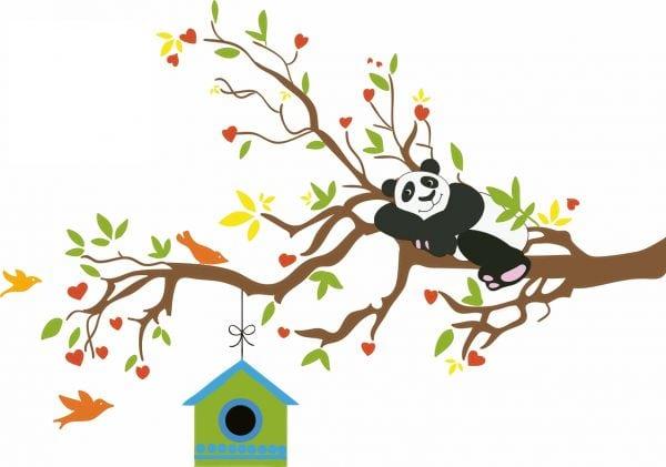 Sticker perete copii Panda 130 x 84 cm