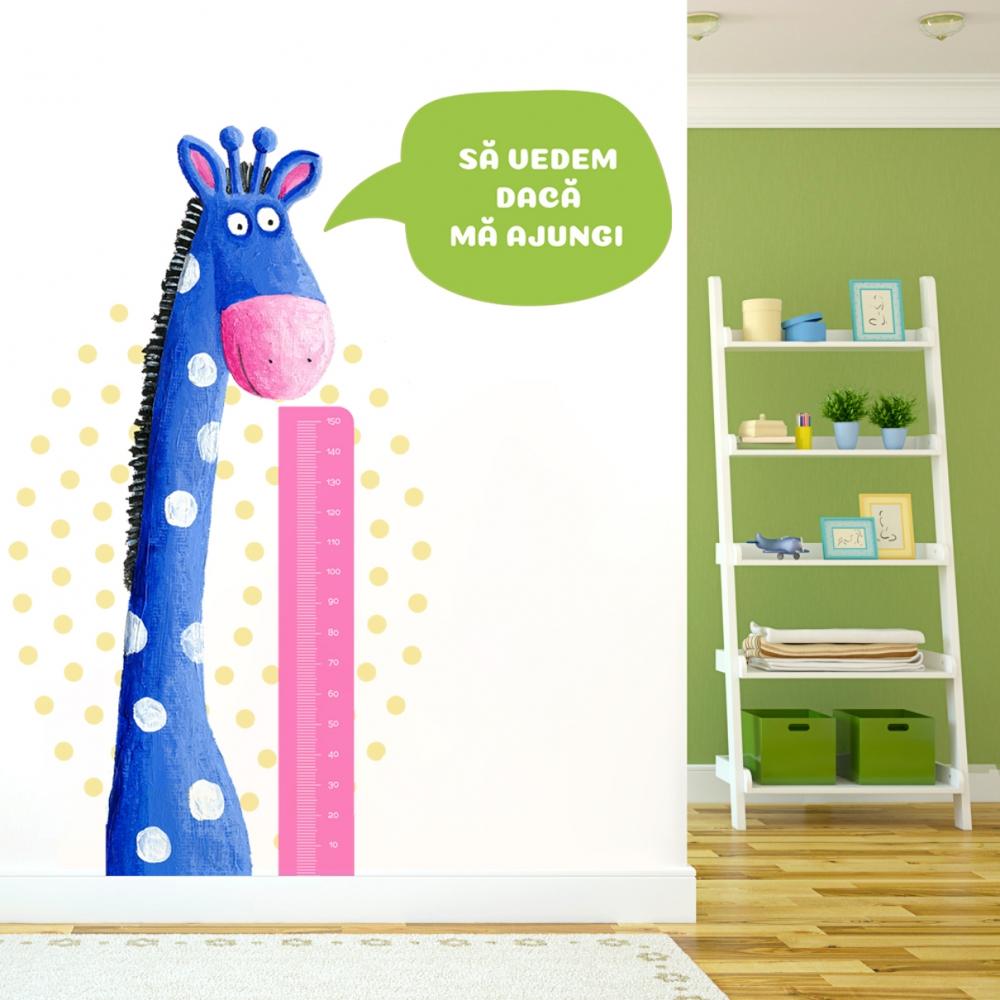 Sticker perete copii Girafa cu metru
