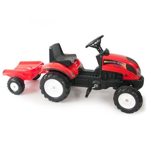 Tractor cu remorca Garden Master red
