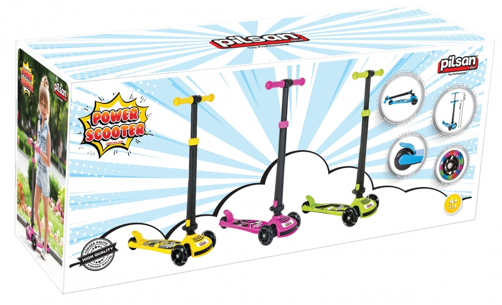 Trotineta pentru copii Pilsan Power Scooter albastra imagine