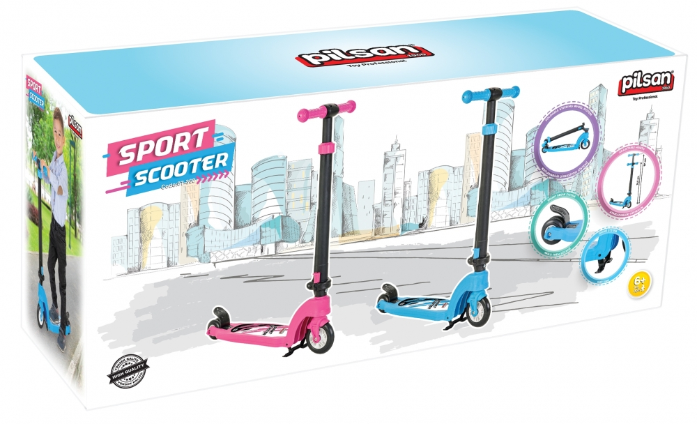 Trotineta pentru copii Pilsan Sport Scooter albastru imagine