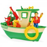 Barca Simba Fireman Sam Charlies Fishing Boat cu figurina