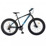 Bicicleta Fat Bike Carpat Hercules 20 inch C2019B 6 viteze culoare negru/albastru