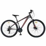 Bicicleta MTB-HT 29 Carpat C2999H cadru aluminiu 21 viteze culoare negru/rosu