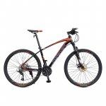 Bicicleta MTB-HT Forever F27A9B roata 27.5 cadru aluminiu 27 viteze culoare negru/rosu