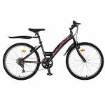 Bicicleta Trekking 24 Rich R2430A 6 viteze negru/fucsia
