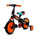 Bicicleta cu sau fara pedale si roti ajutatoare Sun Baby Molto 014 Orange