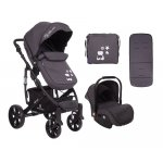 Carucior 3 in 1 KikkaBoo Beloved Dark Grey