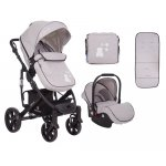 Carucior 3 in 1 KikkaBoo Beloved Light Grey