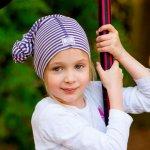 Esarfa multifunctionala din lana merinos si matase Pickapooh Purple Stripes 1