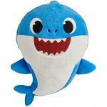 Jucarie muzicala din plus spandex Dady Shark Baby Shark 25 cm