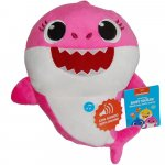 Jucarie muzicala din plus spandex Mummy Shark Baby Shark 25 cm